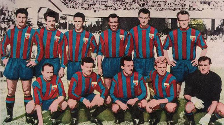 La squadra dell'unica stagione del decennio disputata in Serie A (1954/55)