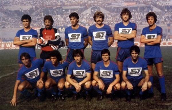 Una formazione del Catania 1983/84, unica stagione in massima serie del decennio.