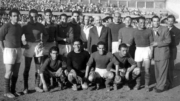 Una formazione del Catania 1948-49